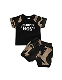 Koolee_Baby Clothes Toddler Little Boys' Camo Shorts Sets Summer Short Sleeve T-Shirt Top and Pants Outfit