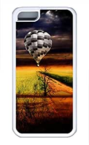 iPhone 5c case, Cute Hot-Air Balloon iPhone 5c Cover, iPhone 5c Cases, Soft Whtie iPhone 5c Covers