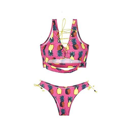 Hirigin Sexy Women Bikinis Set Women Bikinis Swimsuits Bandage Plus Size Women Swimwear African Pineapple Thong Bathing XL