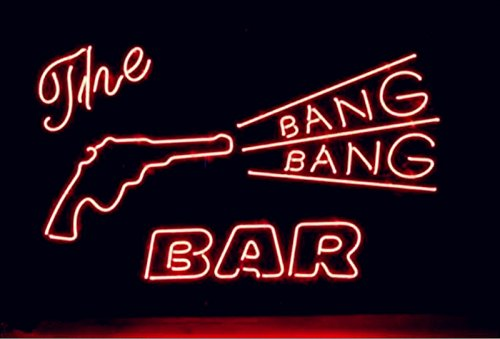Mirsne Bang Bang Bar 17'' by 14'' Neon signs, glass tube neon open sign, custom made neon beer sign, unique neon sign art, supplied for a wide range of personal uses.