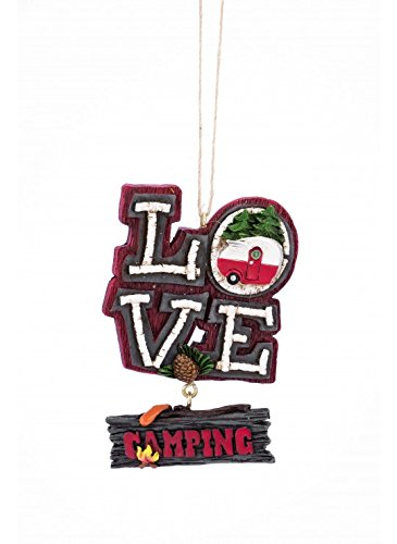 Love Camping Campfire Christmas Ornament for these Fun Camping Wrapping Paper And Creative Gift Wrap Ideas