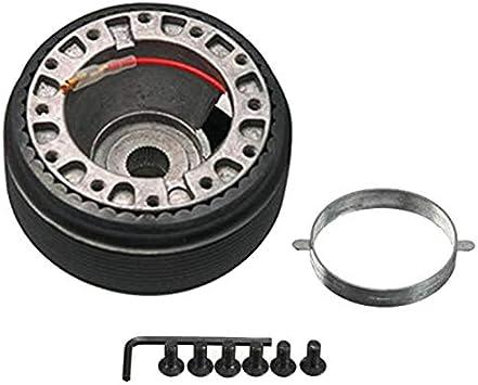Fiween Steering Wheel Hub Adapter,17MM Steering Wheel Hub Boss Kit Adapter N-7 fit fOR NISSAN S13 S14 S15 R33 R34