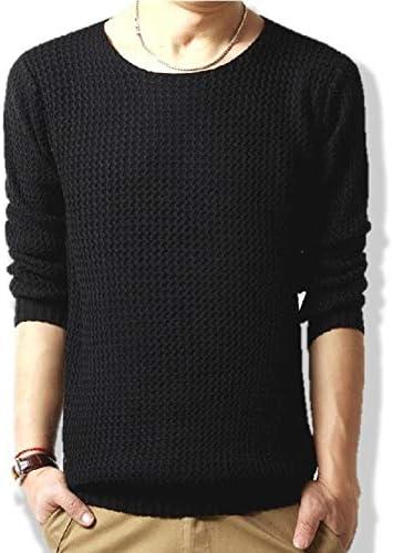 [ウルークレア] 長袖 ケーブル 編み ニット セーター 無地 メンズ 3color