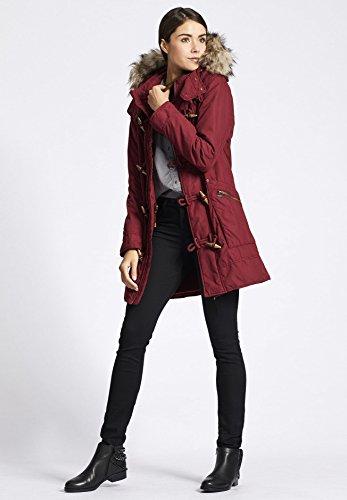 rojo Básico para mujer Manga Blusa oscuro Abrigo Larga khujo xwqfApf