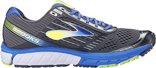 Brooks 1102331D060.110 Men's Ghost 9 Anthracite/Electric Blue/Lime Punch Sneaker (M)
