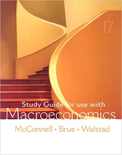 Study Guide For Use With Macroeconomics 9780073273204