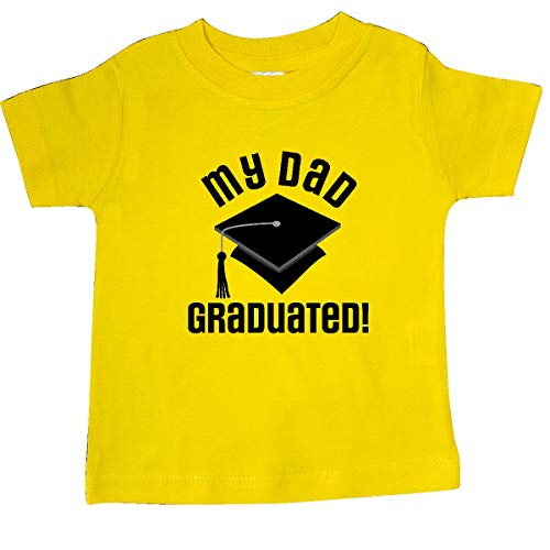 inktastic - My Dad Graduated Baby T-Shirt 6 Months Yellow 35ec3