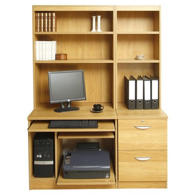 Home Office Solutions Bureau Avec Socle, Unité Centrale Et