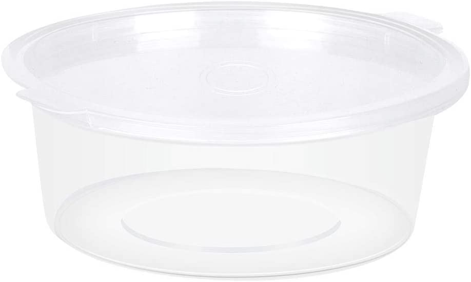 3 OZ Plastic Food Storage Containers Disposable Portion Cups with Lids DIY Printing Craft Storage Containers Organizer Box Transparent Sauce Cups, Set of 50