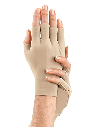 Arthritis Gloves 2 PAIR for Arthritis in Hands Compression Gloves for Carpal Tunnel, Sore & Stiff Muscles, Men and Women (Unisex) FREE Eyeglass Pouch by iSupportPosture (Large) by iSupportPosture