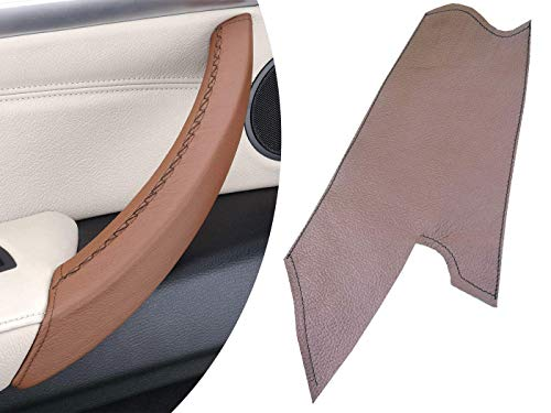 (Door Handle Cover - Brown Raw Leather for X5 E70 and X71 E71 LEFT Passenger Handle Pull)