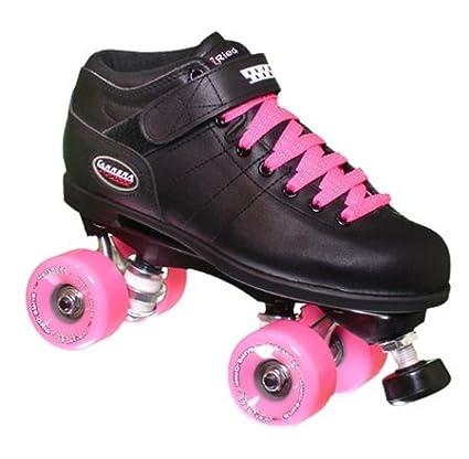 9e67ca1e41a Amazon.com   Riedell Carrera Skates MOTION mens or womens - Size 6 - Black  boot   Childrens Roller Skates   Sports   Outdoors