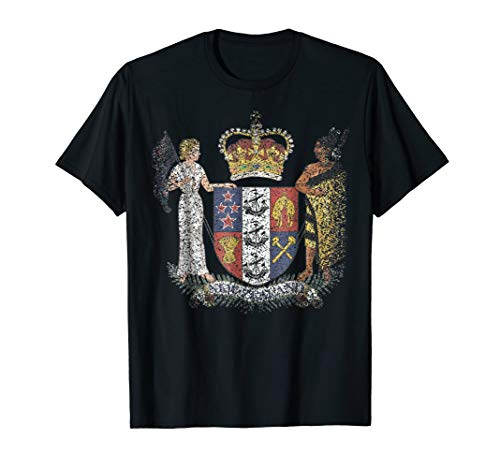 New Zealand Coat Of Arms T Shirt National Emblem ()