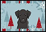 Cheap Caroline's Treasures Winter Holiday Black Labrador Indoor or Outdoor Mat, 18 by 27″, Multicolor