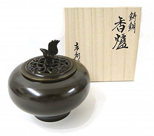 能作吉秀『小鳥香炉』銅製   B079L462LK