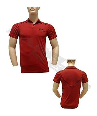 ASICS Polo MS Padel CB Rojo 113424 0606: Amazon.es: Deportes ...