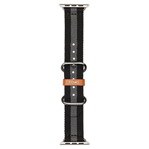 TOMS Apple Watch Band (Black/Gray Stripe, 42mm)