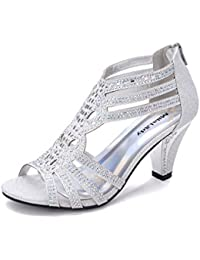 Women's Lexie Crystal Dress Heeled Sandals (Kimi 25)