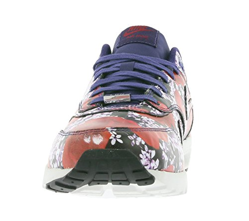 Nike air max 1 ultra lOTC qS socquettes pour femme (box a pas dun couvercle) London Floral-ink/Ink-summit White-team Red