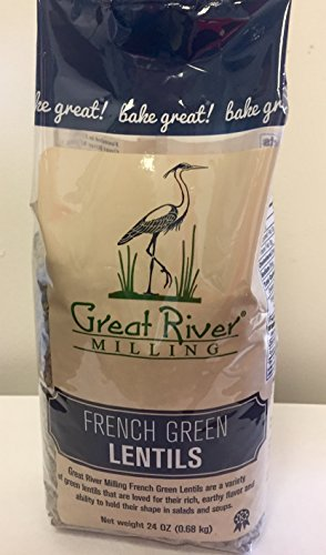 Great River Milling French Green Lentils, 24 Ounce (Pack of 4) by Great River Organic Milling