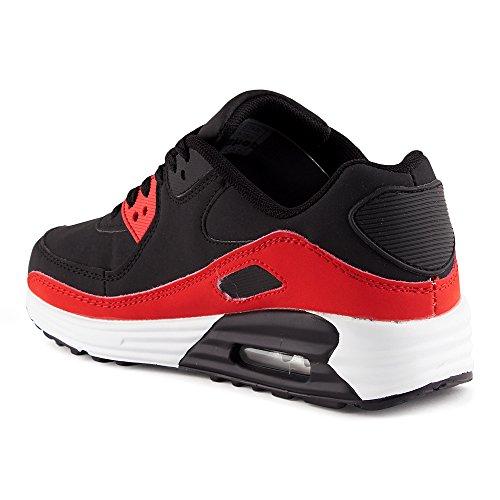 Damen w Sneaker FiveSix Herren Laufschuhe Rot Dämpfung Sportschuhe Schwarz 5wwv8Fqx
