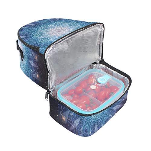 avec Cooler Impression l'école à Tote Ciel Pincnic bandoulière pour lunch Boîte à isotherme étoilé Folpply réglable Sac v8Twgnqf