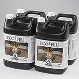 Eco-Feu Bio Ethanol Fuel - 4 Pack of 1 Gallon (3.78 L) Bottles