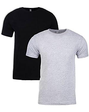 N6210 T-Shirt, Black + Dark Heather Gray (2 Pack), X-Large