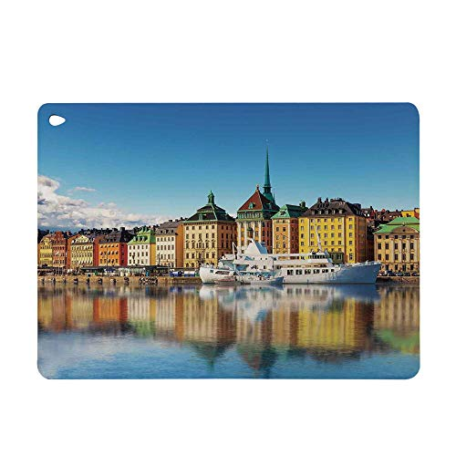 Case for Apple iPad Mini 4 Smart Sleep Wake Color Pattern TPU Leather Tablet Cover Case for Apple iPad,The Gamla Stan in Stockholm Sweden Yacht Ship