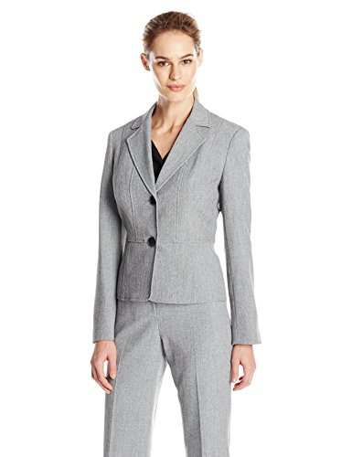Kasper Women's 2 Button Jacket, Grey/Black, 4