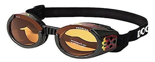 Doggles ILS Sunglasses for Dogs – Racing Flames Frame and Orange Lens – X-Small, My Pet Supplies