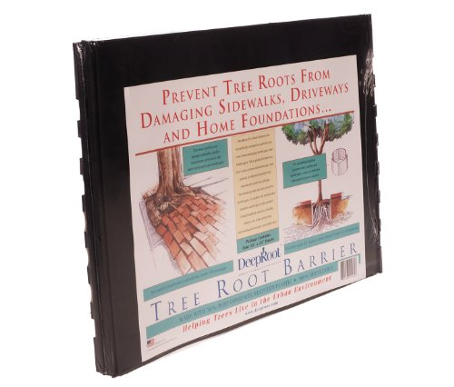 DeepRoot Tree Root Barrier Retail Kit, five (5) 18-inch x 24-inch panels per pack