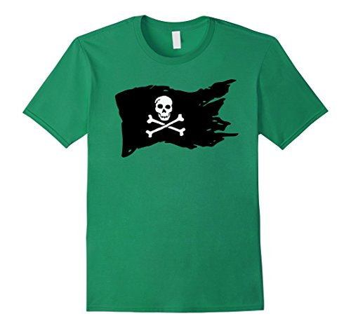 Mens Fun Halloween Pirate Flag Costume T-Shirt 3XL Kelly Green