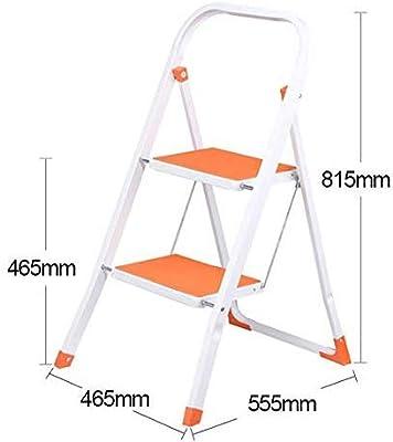 YZjk Fácil y multifunción Taburete Plegable, Taburete con Escalera Taburete portátil de Hierro y Acero Escalera pequeña de 2 peldaños Escalera Interior Escalera, Azul: Amazon.es: Hogar