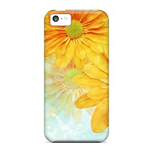 DrunkLove Snap On Hard Case Cover Gerberas Wild Protector For Iphone 5c