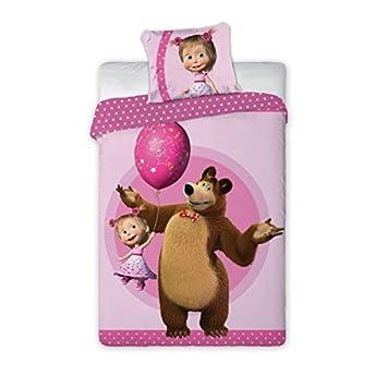 Masha Und Bär Himbeere Bettwäsche Bettbezug Set Einzelbett Und