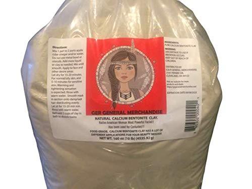 Calcium Bentonite Clay 10 lbs. Food grade.Deep Pore Cleansing Facial & Body mask.