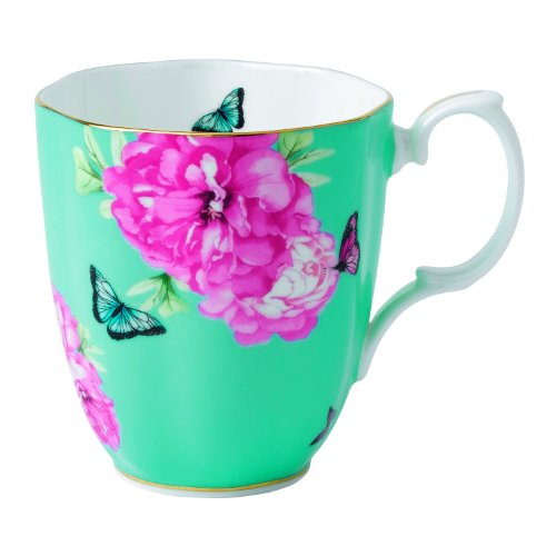Royal Albert Friendship Vintage Mug Designed by Miranda Kerr, 13.5-Ounce, Turquoise (China Royal Mug Bone Albert)
