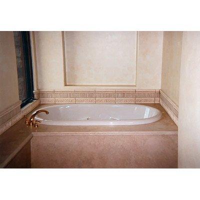 Designer aimee whirlpool bathtub almond for Bathtub material comparison