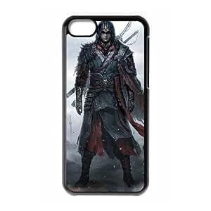 Assassin'S Creed funda iPhone 5C Negro de la cubierta del teléfono celular de la cubierta del caso funda EBDOBCKCO17164