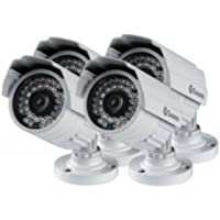 Swann SWPRO-842CAM-US 900TVL High-Resolution Day/Night Security Camera - Night Vision 85ft / 25m (White/Gray) 4 Pack