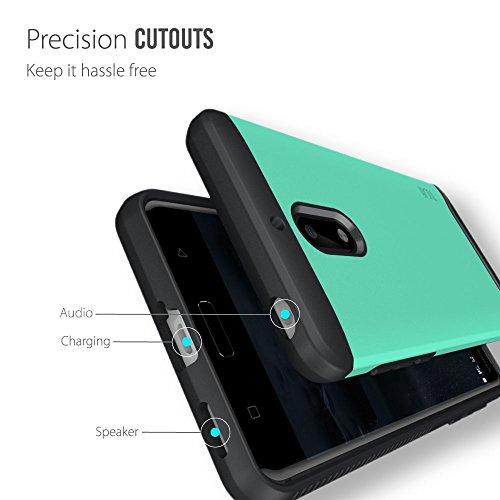 Nokia 6 Funda, Caja protectora TUDIA MERGE TAREA PESADA Protección EXTREME de doble capa para Nokia 6 (Grafito) Menta