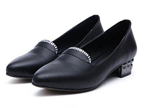 de zapatos de poca tacón los la elevador zapatos Ms perezosos profundidad zapatos los EU40 Spring los del de con planos 5 bajo boca zapatos en escogen los gruesos 5 CN40 UK6 zapatos US8 señaló wzwqYv