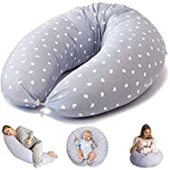 Bamibi Multifunctional Pregnancy Pillow & Breastfeeding Pillow + Inner Cushion. Cover 100% Cotton, Filling 100% Polyester, Baby Nest, Nursing Pillow, Maternity Pillow