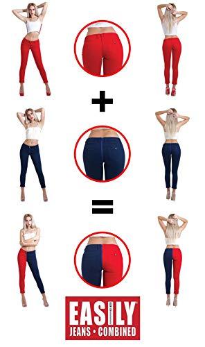 Fácilmente Rojo Lote Jeans En Mujer 1 3 azul Combinados awdZC