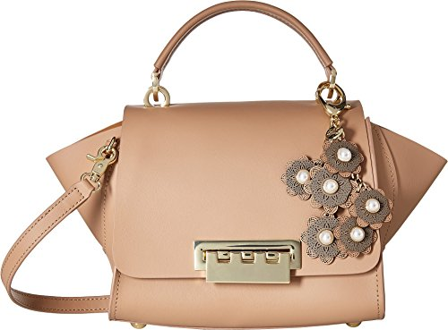 Designer Zac Posen (ZAC Zac Posen Women's Top-Handle Crossbody with Floral Charm English Rose One Size)