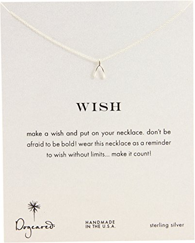 A Wish Make Necklace Dogeared (Dogeared Women's Wish Reminder 16 inch Silver One Size)