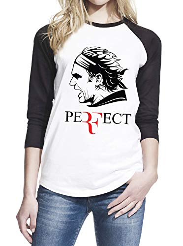 Roger Federer Perfect Tennis Player Grand Slam Sport Raglan Women Teen Girl Baseball Shirt T-Shirt Tee #ZWBSUB970
