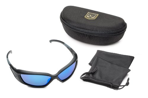 Revision Military Hellfly Ballistic Sunglasses 4-0491-0003 Hellfly Ballistic Sunglasses Matte Black Frame with Midnight Mirror Lenses, Midnight Mirror