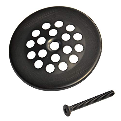 DANCO Tub and Shower Bath Grid Drain Strainer with Screw, 2-7/8 Inch, Oil Rubbed Bronze, 1-Pack - Rubbed Drain Grid Bronze